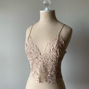 Zara Nude Lace Croptop - New with tags